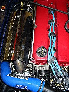Intercooler- Schlauch Silicon Focus 1 RS blau