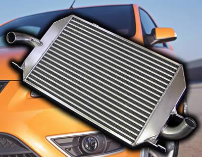 Alu Hochleistungs Ladeluftkühler Ford Focus 2 ST Alicool silber