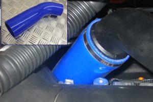 Silikonschlauch blau Ansaug-Turbo Ford Focus 2 ST