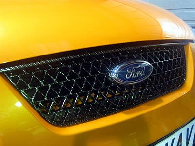Carbonlook Kühlergrill oben Ford Focus 2 ST bis 07