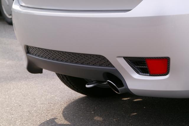 Carbonlook Gitterdesign- Einsatz hinten Ford Fiesta ST 150/S