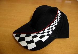 Racing Cap schwarz ohne Logo
