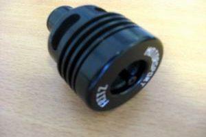 Umluftventil (Pop-Off) Doppelkolben Standard schwarz FMS