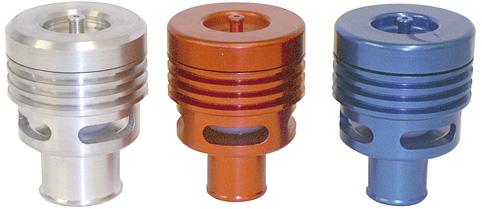 Umluftventil (Pop-Off) Doppelkolben Standard silber