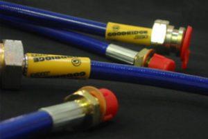 Satz Stahlbremsleitungen Ford Focus ST blau Stahl