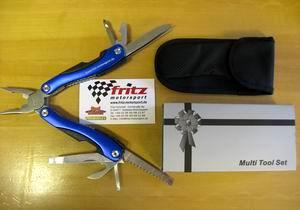 """Multi Tool Set blau """"Fritz Motorsport"""""""
