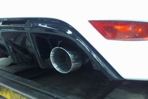 Mongoose Edelstahl Rennsportauspuff ab Kat Ford Focus 2 RS