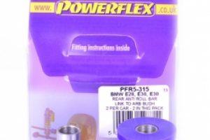 Powerflex Buchse Stabilisator hi. zum Lenker BMW 3 E30/Z3