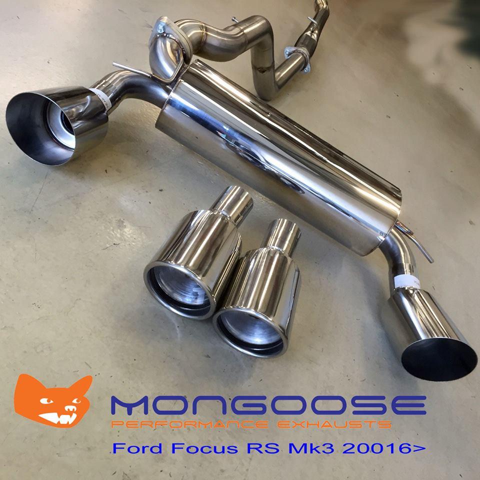 Mongoose Edelstahl Rennsportauspuffanlage ab Kat Ford Focus 3 RS