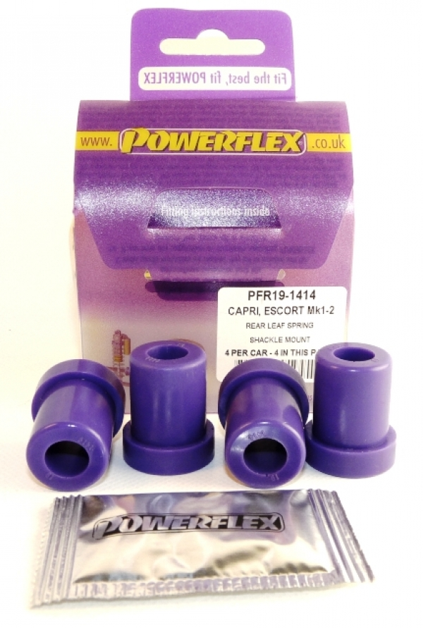 Powerflex PU Blattfederlager hinten Escort 1/2