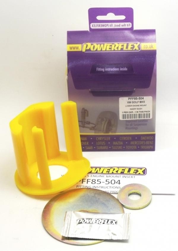 Powerflex Buchse Einsatz unt. Motorlager Benziner VW Golf 5