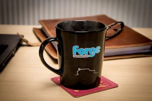 Kaffee-/Teetasse Forge schwarz