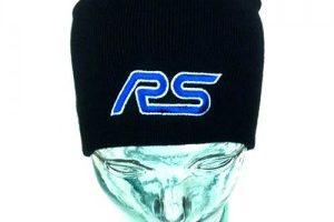 Wintermütze Beanie Schwarz mit RS Logo