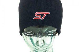 Wintermütze Beanie schwarz mit ST Logo