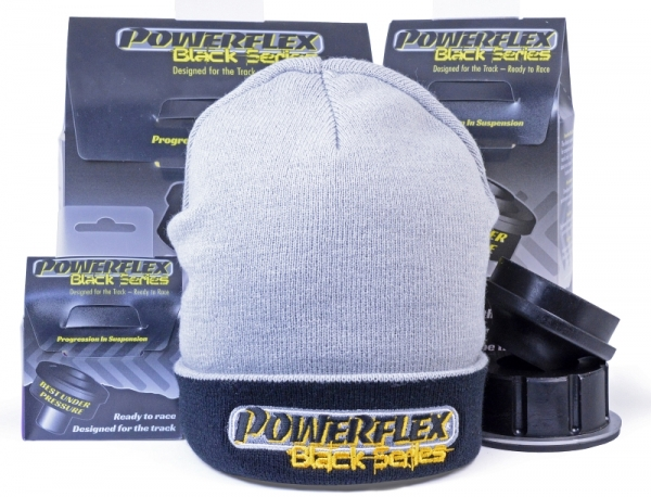 Wintermütze Beanie Powerflex schwarz-grau